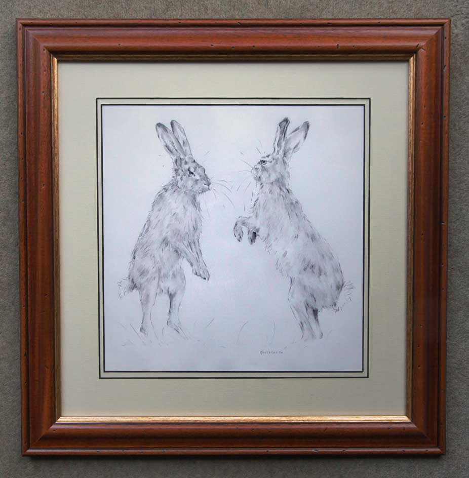 Artist drawings and paintings professionally framed in Newark and Retford Nottinghamshire