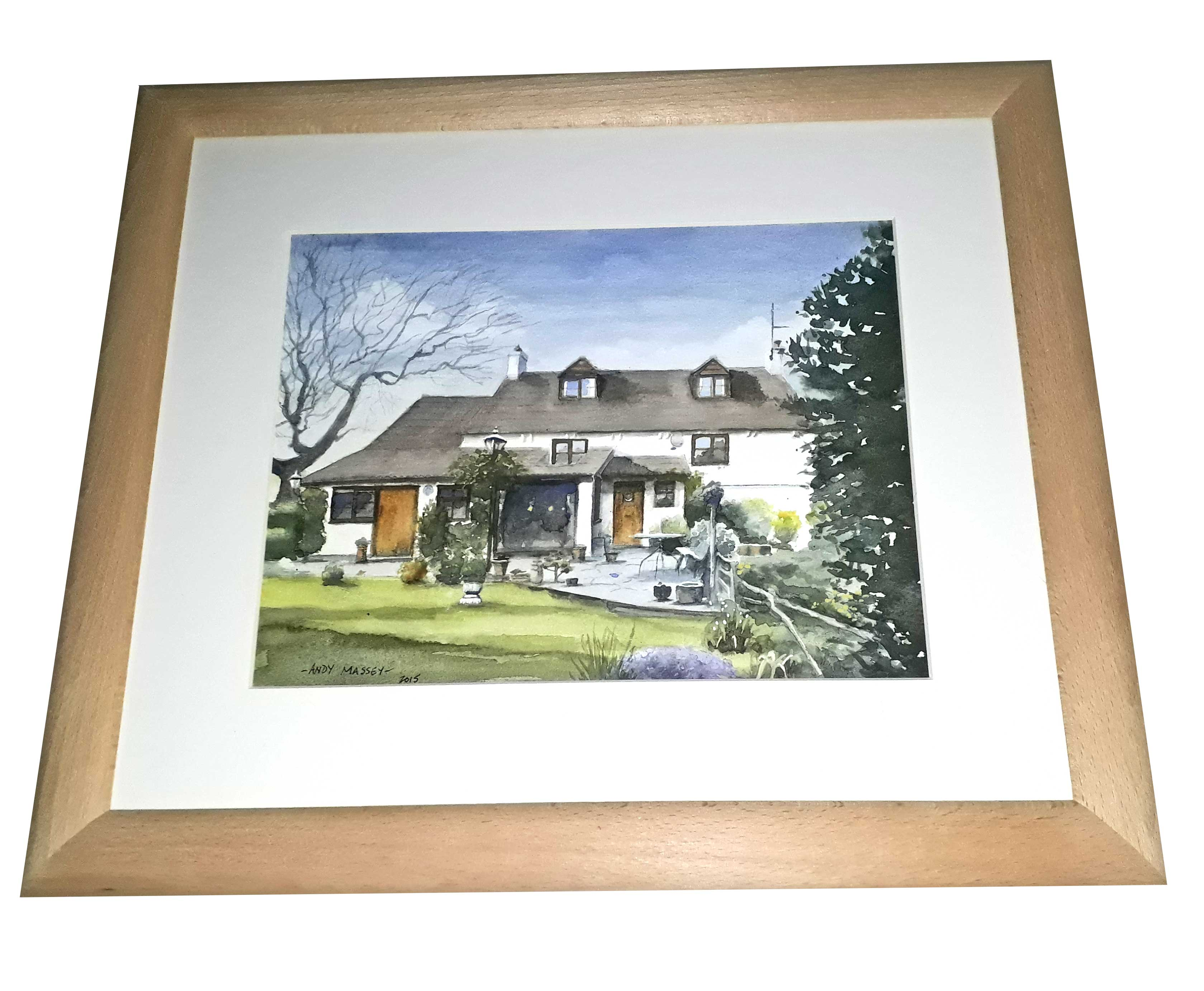 Framed watercolour